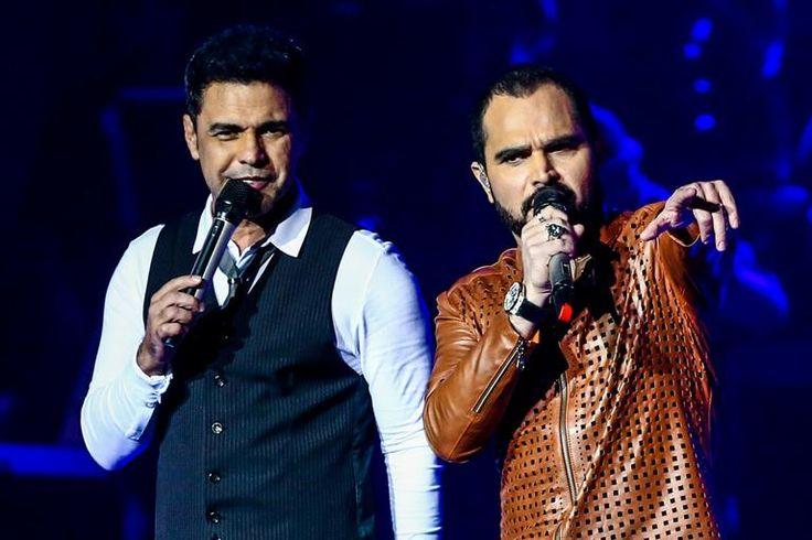 Zezé Di Camargo & Luciano gravam novo DVD em SP e recebem vips