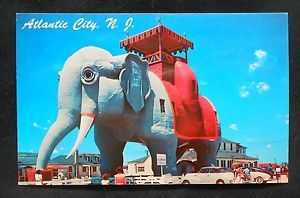 1950s Lucy The Elephant Hotel Old Cars Atlantic City Margate NJ Atlantic Co PC | eBay