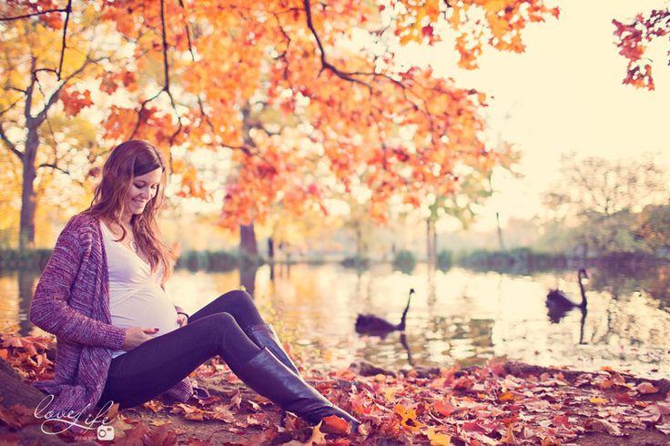 Seance photo future maman et couple  Yvelines , Le Vesinet - automne