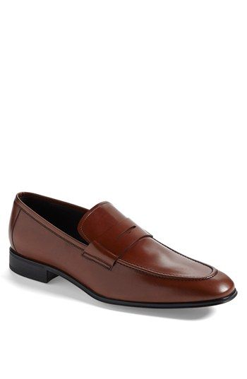 Free shipping and returns on Salvatore Ferragamo 'Rocco' Penny Loafer at Nordstrom.com. Apron-toe construction defines a sleek loafer formed from softly lustrous leather.