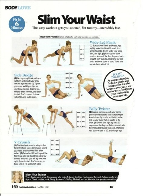 Slim Your Waist - Click image to find more Health & Fitness Pinterest pins: Abs Workout, Work Outs, Waist Workout, Fitness Exercise, Tracy Anderson, Ab Workouts, Fitness Workout, Slim Waist, Waist Exercise