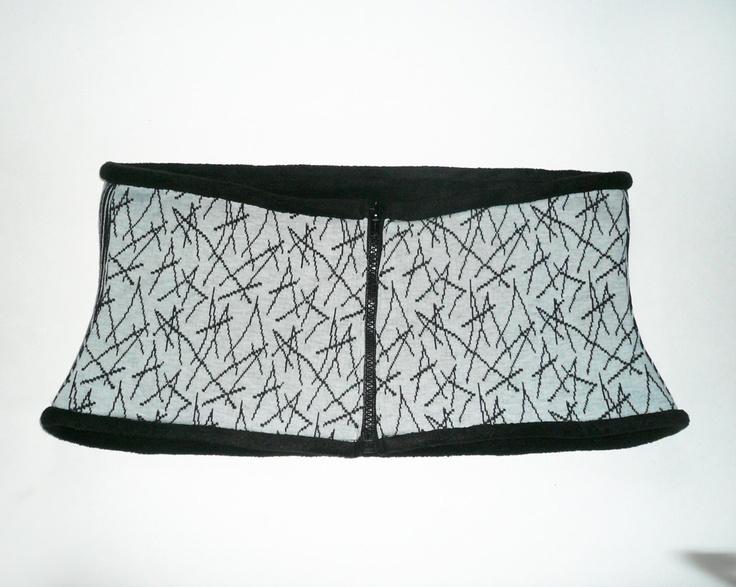Kidney back warmer belt, cacheur, sash cotton, black fleece lining, warmth against back ache. €39.00, via Etsy.