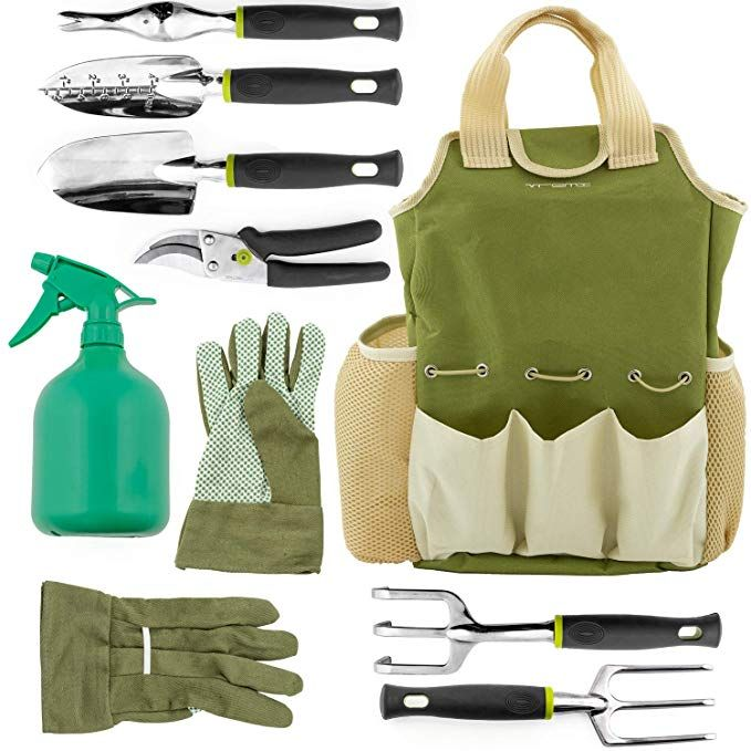 Vremi 9 Piece Garden Tools Set Gardening Tools With Garden