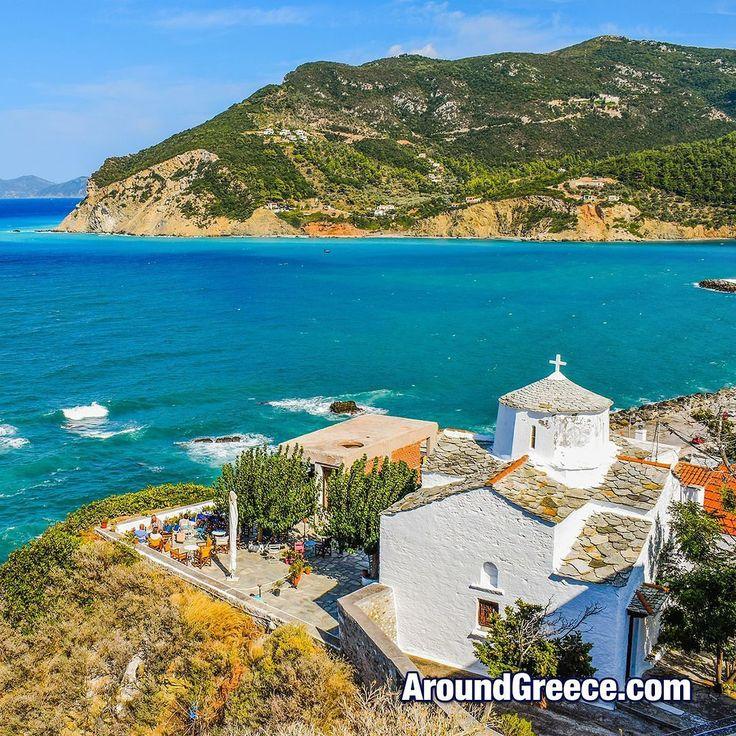 Skopelos - one of the beautiful Greek islands that make up the Sporades  #Skopelos #Greece #Greekislands #holidays #travel #vacations #Sporades #islands #church #visitgreece #aroundgreece #Σκοπελος #Σποραδες #Ελλαδα #ΕλληνικαΝησια #διακοπες #ταξιδια
