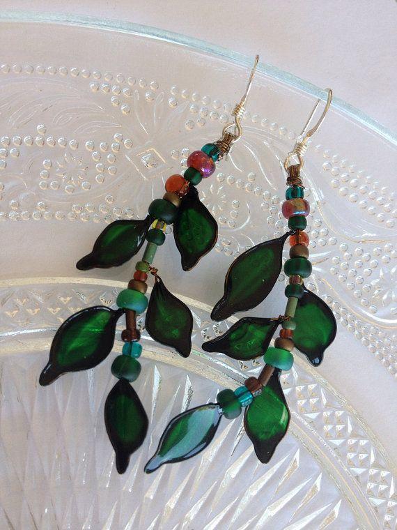 Woodland Leaves Earrings -  SmittenKittenLoves, €15.00: To Mein, Leaves Earrings, Weekend Creations, Leaf Earrings, Unique Leaves, Woodland Leaves, Woodland Colour, Smitten Kittens, Ideia Para