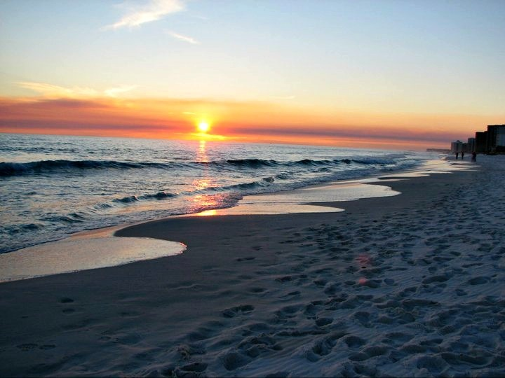 The end of another beautiful day at Perdido Beach Resort in Orange Beach