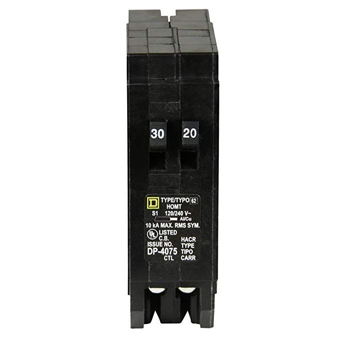 Square D By Schneider Electric Homt3020cp Homeline 1 30 Amp 1 20 Amp Single Pole Tandem Circuit Breaker Review With Images Electrical Panel Pole For Sale Electricity