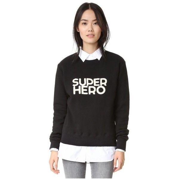 IRO.JEANS Fael Sweatshirt featuring polyvore, women's fashion, clothing, tops, hoodies, sweatshirts, black, long sleeve tops and long sleeve sweatshirt