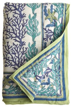 Coral Quilt - eclectic - quilts - Calypso St. Barth