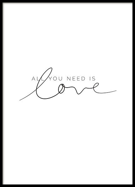 You Need Love Poster in der Gruppe Poster / Typografie Poster bei Desenio AB (11… – Kim♡Possible