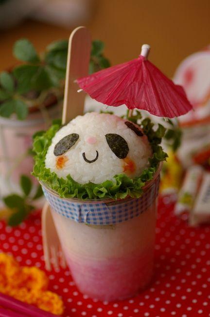 Panda Sushi Cupcake #bento