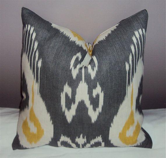 etsy gal has ton of grey/yellow decorative pillows