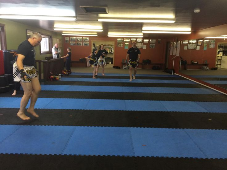Muay Thai warm ups at Rocky Mountain House!