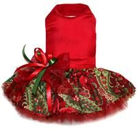 Fancy Christmas dog dress perfect for pictures