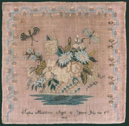 American sampler, 1820.