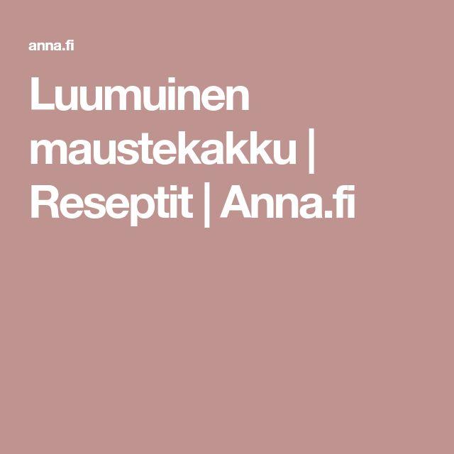 Luumuinen maustekakku | Reseptit | Anna.fi