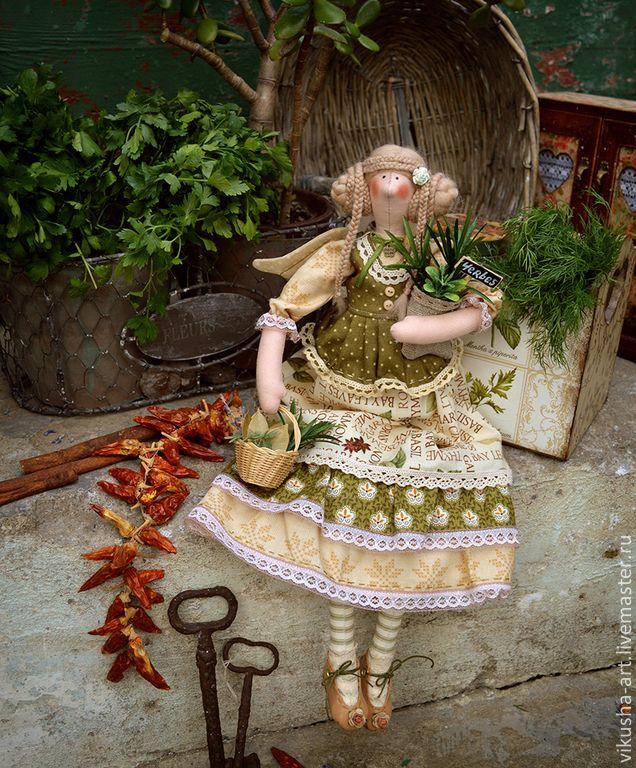 Купить Фея Лавруша...Прованские Травы... - оливковый, фея, фея тильда, прованс, прованский стиль