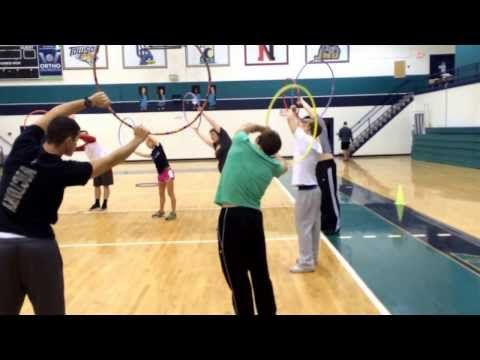 Modified Striking Games for Elementary Physical Education - YouTube