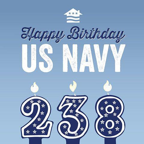 US Navy Birthday Graphic by Nicole Entz Design