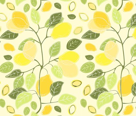 Fruits of the Lemonade tree fabric by milly_dee on Spoonflower - custom fabric