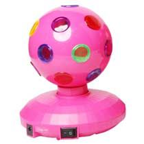LED discobal 10 cm roze