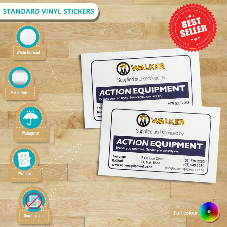 Get the most popular waterproof #labels - Standard #VinylStickers! It can be applied both indoor or outdoor. Avail your #customisedvinylstickers now!