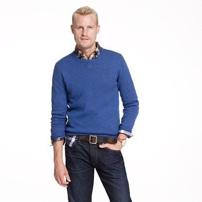 Slim slub merino crewneck sweater (large)
