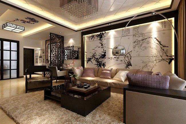 Asian-style Interior Design Ideas Backdrops, Neutral and Asian