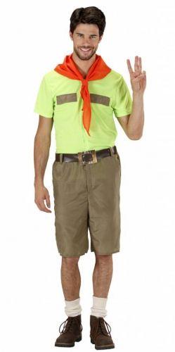 Padvinder kostuum voor heren. Padvinder / scouting kostuum voor heren, inclusief shirt, broek, riem en rood sjaaltje. Carnavalskleding 2015 #carnaval
