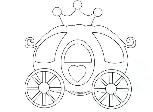 Princess Carriage Coloring Pages