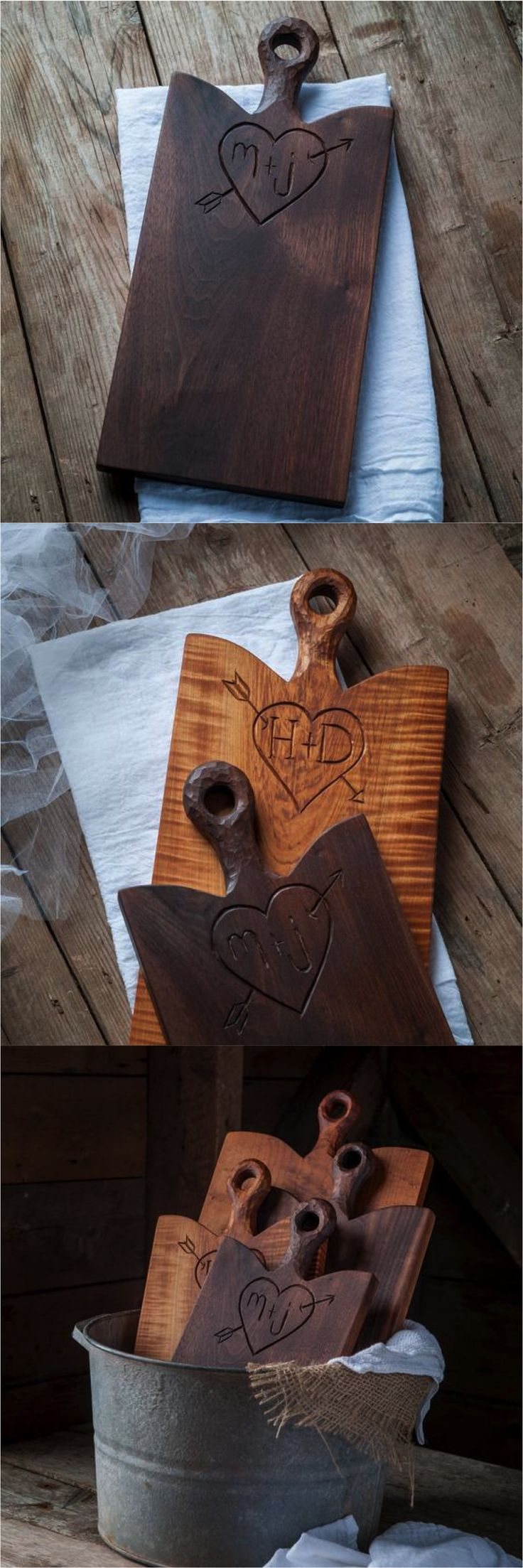 This stunning personalized serving board is the perfect gift for the wonderful couple celebrating a new home or wedding!   Made on Hatch.co by independent makers & designers