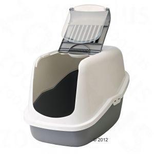 Savic Nestor Cat Litter Box grey at discount prices at bitiba.co.uk
