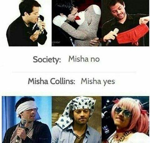 Misha yes LMAO #Misha Collins #dork #lovable