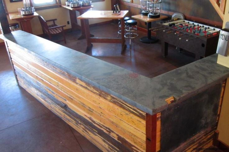 1000 images about mcgdesigns bar tops on pinterest for Diy outdoor bar top