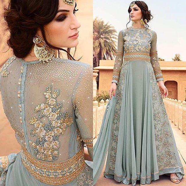 - BEST SELLER ✨ Shop our stunning 'Blue Grey Embroidered Anarkali' - £45 semi-stitched, £55 stitched @ falakenoorboutique.com 👉🏿Product code: G-7108. @falakenoorboutique •  #FalakeNoor #IndianDress #PakistaniStreetStyle #PakistaniDress #ootd #pakistani #DesiCouture #DesiFashion #Style #Desi #Dressyourface #Anarkali #salwarkameez #Zukreat #AsianBride #London #Indian #Birmingham #gown #England #UK #UnitedKingdom #Punjabi #Saree #Sari #lehenga #punjabisuit #couture #bollywood #bluegrey