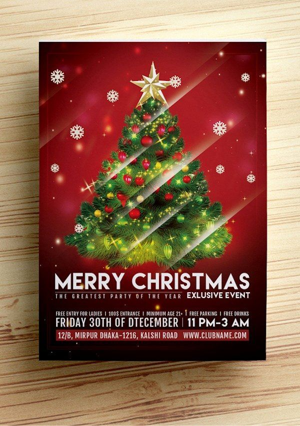 Free Christmas Flyer Templates Awesome Christmas Flyer Template Free Free Christmas Flyer Templates Holiday Flyer Template Holiday Party Flyer