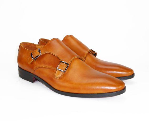 Model 'monte carlo' in cognac. Ook deze mooie  handgemaakte schoen voor maar €150!