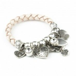 Bibi Bijoux Blush rope butterfly bracelet