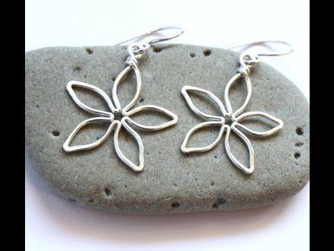 Video: Easy Wire Flower Earrings. #Wire #Jewelry #Tutorials