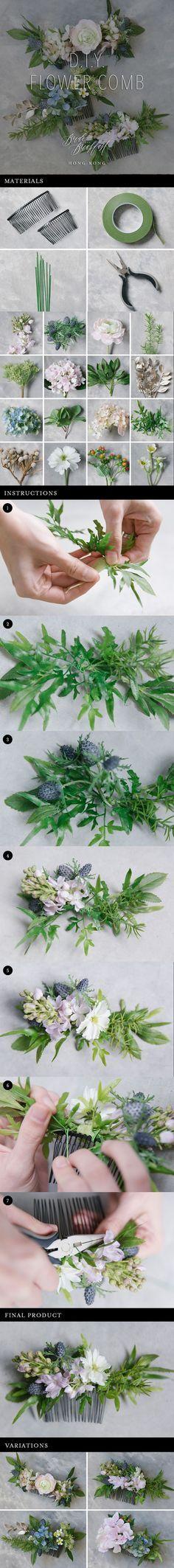 Pretty Flower Comb Tutorial | Wedding DIY | Silk Flower | Hair accessories