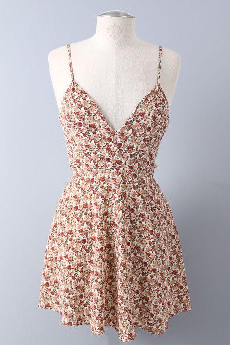 Salt Tree Women's Ditsy Floral Skater Skirt Dress, US Seller