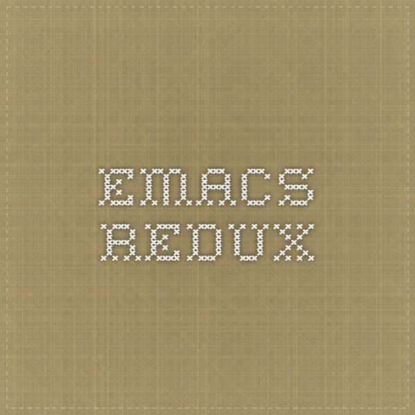 Emacs Redux