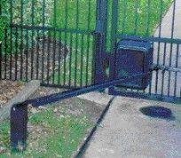 Garage door opener used as gate opener
