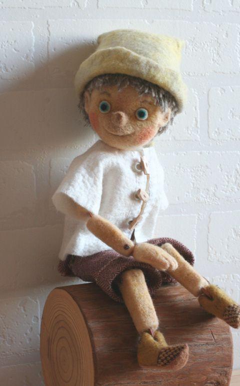 *NEEDLE FELTED ART ~ Pinocchio