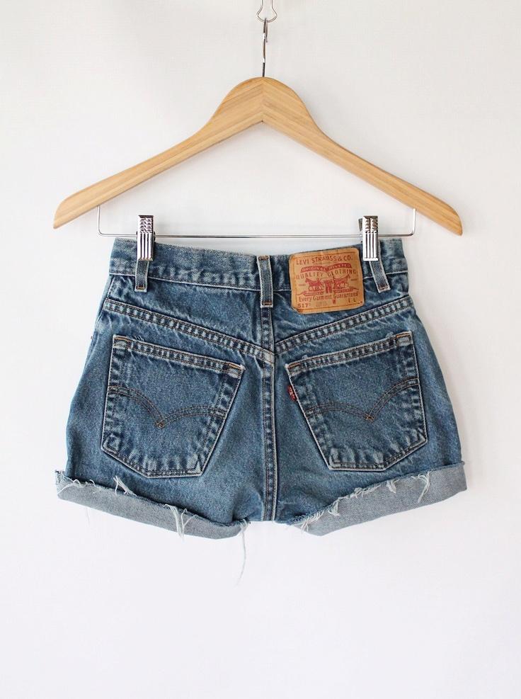 Vintage 80s Levis Denim Cut Off Daisy Dukes // Womens High Waisted Shorts. $32.00, via Etsy.
