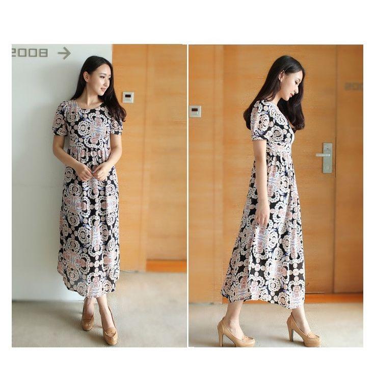 Chiffon Abstract Maxi Dress LD177 Model  8455 Condition  New Rp.236.000