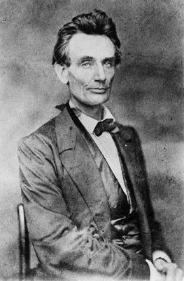 Rarely seen photo of Lincoln (possibly by Preston Butler) made in May 1860, just after Lincoln clinched the nomination.