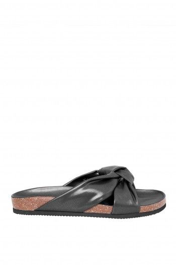 Blase Knot Sandals Black by Cheap Monday