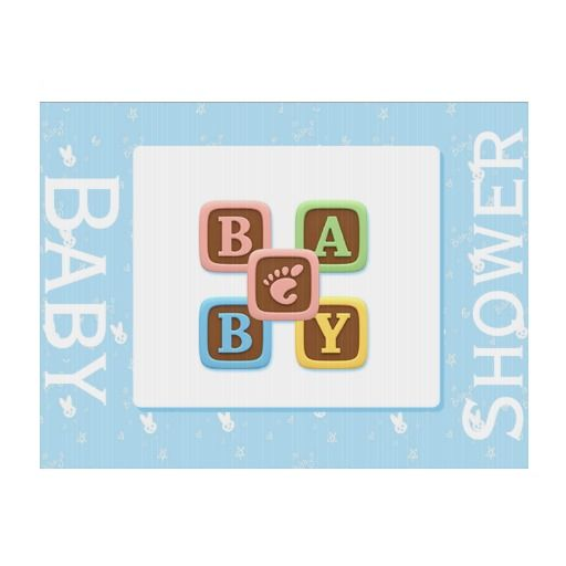 on blue baby shower yard sign babies letter blocks and baby showers
