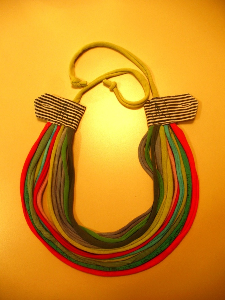 handmade recycled necklace